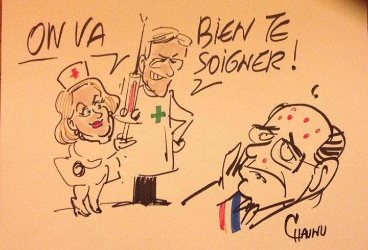 Dessin Chaunu, union à Caen