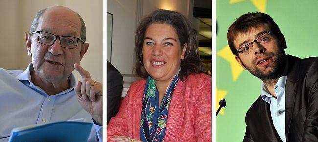 Philippe Duron, député-maire PS de Caen, Sonia de la Provôté (UDI) et Rudy L'Orphelin (EELV)