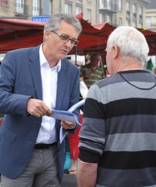 Philippe Lailler, marché Saint-Pierre à Caen